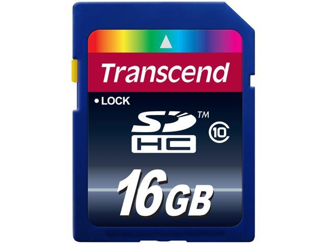 Transcend 16GB Secure Digital High-Capacity (SDHC) Flash Card Model TS16GSDHC10