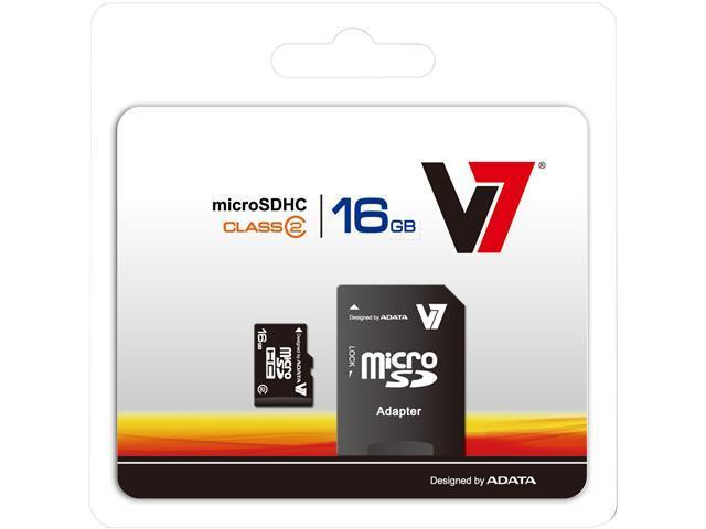 V7 16GB microSDHC Flash Card Model VAMSDH16GCL4R-1N