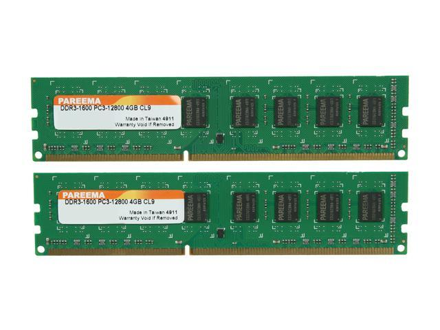 Pareema 8GB (2 x 4GB) 240-Pin DDR3 SDRAM DDR3 1600 (PC3 12800) Desktop Memory Model MD316C81609L2