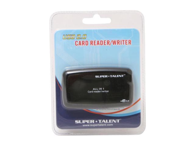 SUPER TALENT EXTAI1BKLG All-in-one USB 2.0 Card Reader