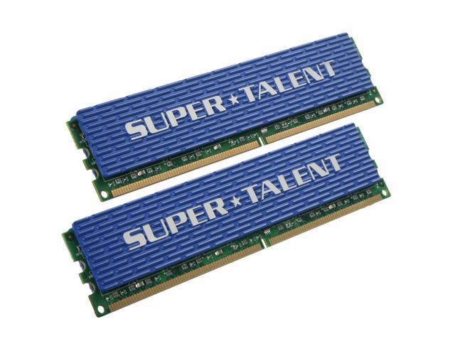 SUPER TALENT 4GB (2 x 2GB) 240-Pin DDR2 SDRAM DDR2 800 (PC2 6400) Dual Channel Kit Desktop Memory Model T800UX4GC5