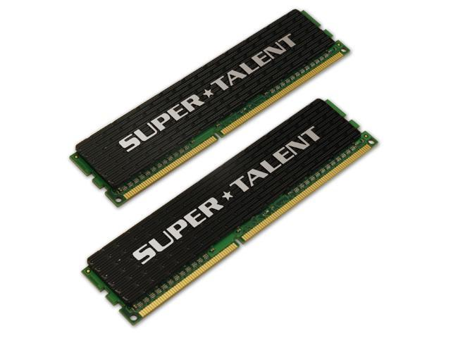 SUPER TALENT 2GB (2 x 1GB) 240-Pin DDR3 SDRAM DDR3 1600 (PC3 12800) Dual Channel Kit Desktop Memory Model W1600UX2G7