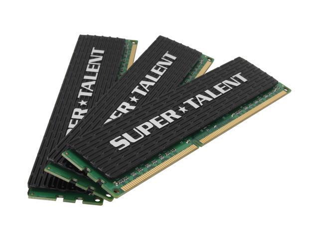 SUPER TALENT 6GB (3 x 2GB) 240-Pin DDR3 SDRAM DDR3 1333 (PC3 10666) Triple Channel Kit Desktop Memory Model WA133UX6G8