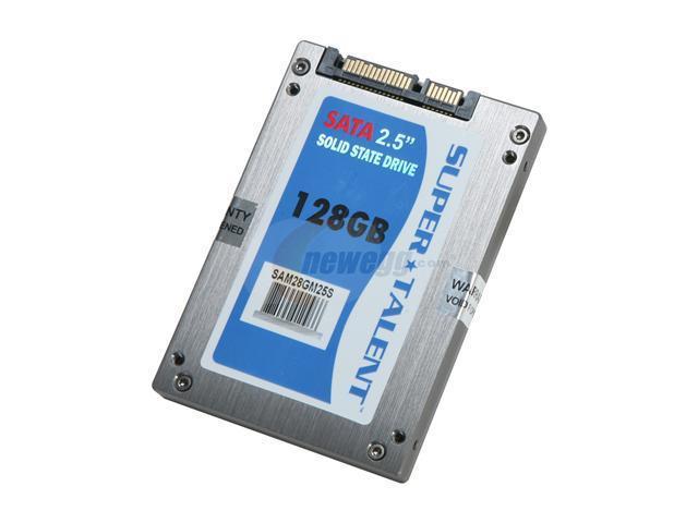 """SUPER TALENT MasterDrive SX 2.5"""" 128GB SATA II MLC Internal Solid State Drive (SSD) SAM28GM25S"""