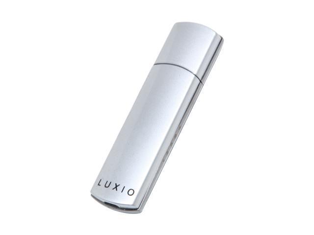 SUPER TALENT Luxio 128GB USB 2.0 Flash Drive (Silver) Hardware-based AES-256bit Encryption