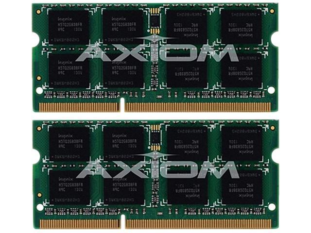 Axiom 8GB (2 x 4GB) 204-Pin DDR3 SO-DIMM DDR3 1066 (PC3 8500) Unbuffered System Specific Memory Model MC016G/A-AX