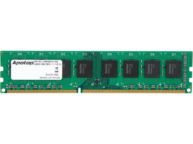 Apotop 8GB 240-Pin DDR3 SDRAM DDR3 1600 (PC3 12800) Desktop Memory Model U3A8Gx1-16CBEB