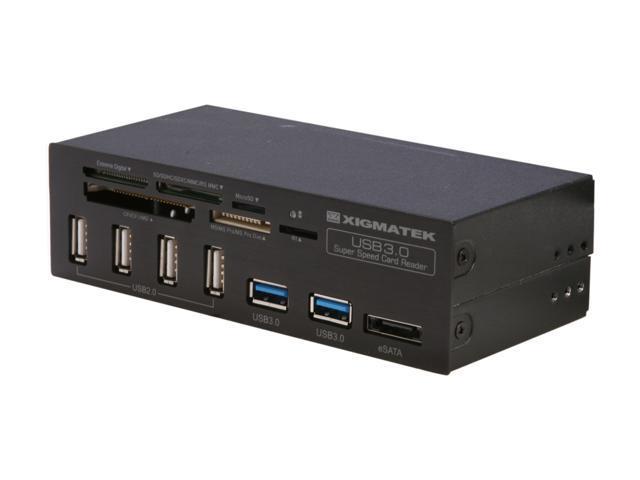 "XIGMATEK CCO-UCOIAB-U01 USB 3.0 Accessor Ultimate 5.25"" Super-Speed Card Reader"