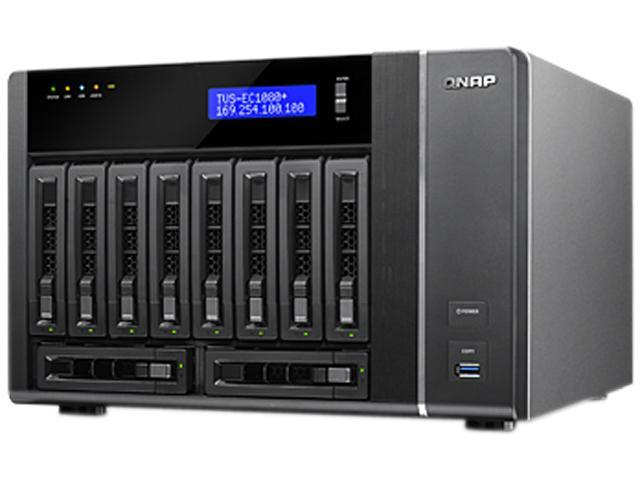 QNAP TVS-EC1080+-E3-32G-US 10-bay Edge Cloud Turbo vNAS with built-in dual-port 10GbE & 256GB mSATA modules