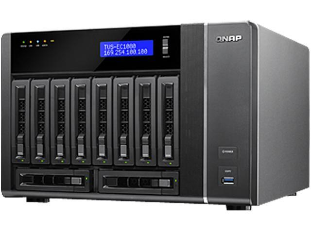 QNAP TVS-EC1080-E3-16G-US 10-bay, 10GbE-ready high performance Edge Cloud Turbo vNAS