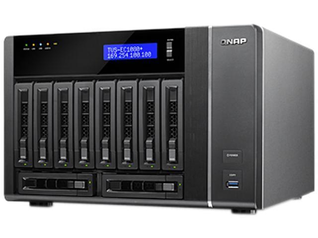 QNAP TVS-EC1080-i3-8G-US 10-bay, 10GbE-ready high performance Edge Cloud Turbo vNAS