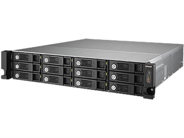 QNAP TVS-1271U-RP-i3-8G-US Diskless System 12 -bay high performance unified storage