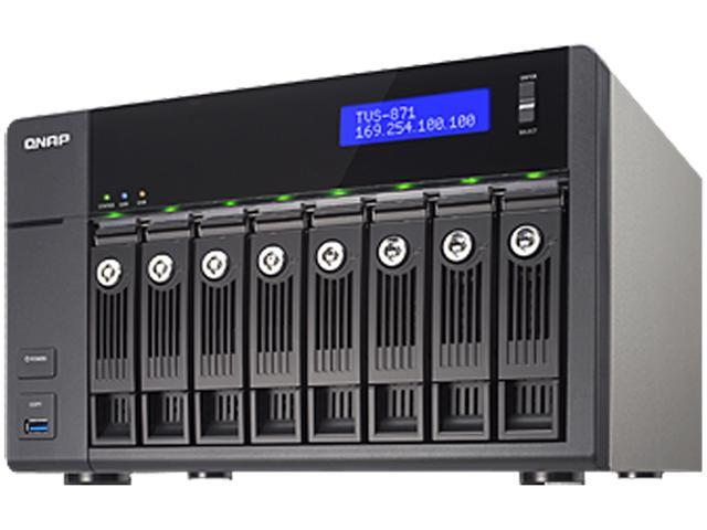 QNAP TVS-871-i3-4G-US High-performance Turbo vNAS with 4K video playback and transcoding
