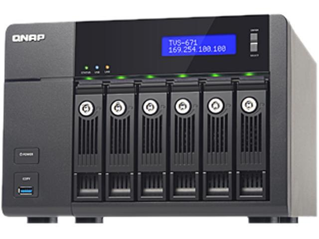 QNAP TVS-671-i5-8G-US High-performance Turbo vNAS with 4K video playback and transcoding