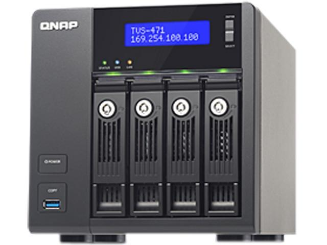 QNAP TVS-471-i3-4G-US High-performance Turbo vNAS with 4K video playback and transcoding