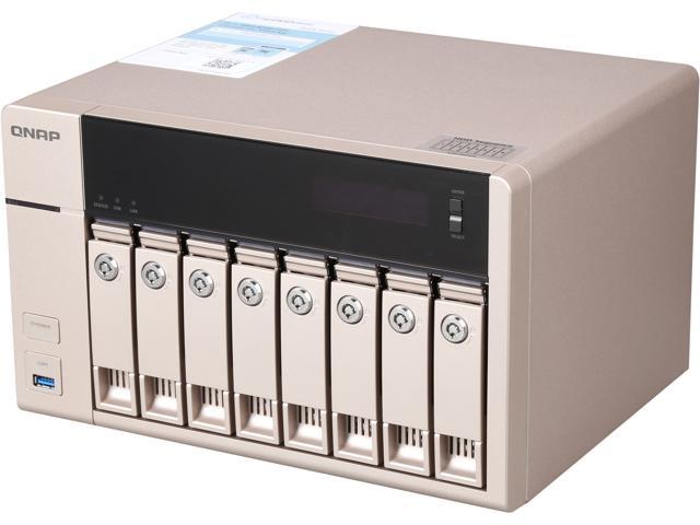 QNAP  TVS-863-4G-US 8-bay-4GB Affordable 10GbE-ready Golden Cloud Turbo vNAS