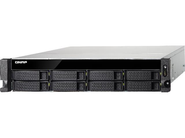 QNAP TS-863U-RP-4G-US High performance quad-core 10GbE NAS with redundant power supplies, 4GB RAM