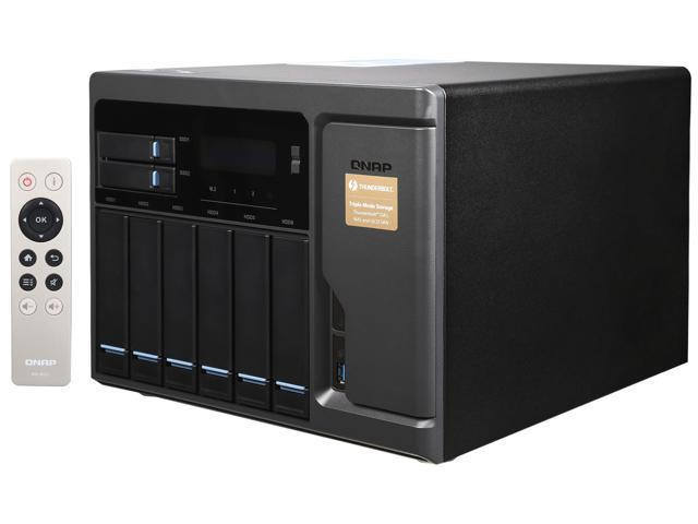 QNAP High Performance 8 bay (6+2) Thunderbolt 2 DAS/NAS/iSCSI IP-SAN Solution. Intel Skylake Core i5 3.6GHz Quad Core, 16GB RAM, Thunderbolt port x 2 and 10Gbase-T x 2