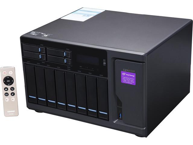 QNAP High Performance 12 bay (8+4) NAS/iSCSI IP-SAN. Intel Skylake Core i7-6700 3.4 GHz Quad Core, 32GB RAM, 10G-ready