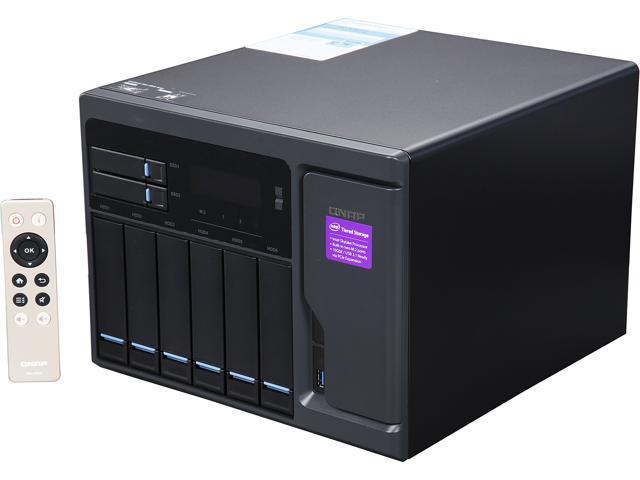QNAP High Performance 8 bay (6+2) NAS/iSCSI IP-SAN. Intel Skylake Core i5 3.6 GHz Quad Core, 16GB RAM, 10G-ready