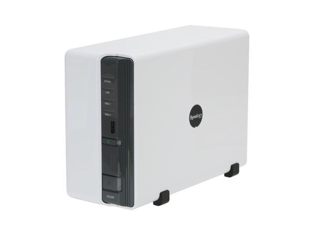 Synology DS209 Diskless System Disk Station 2-bay SATA NAS Server for Workgroups and Offices