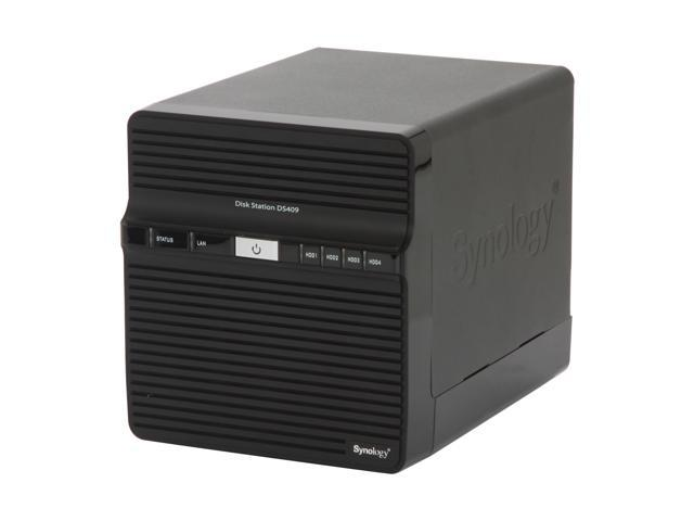 Synology DS409 Diskless System Disk Station 4-bay SATA NAS Server for Workgroups and Offices