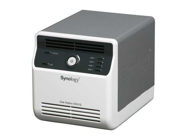 Synology Disk Station DS410J Diskless System Budget-friendly 4-bay NAS Server for Personal and Home Use