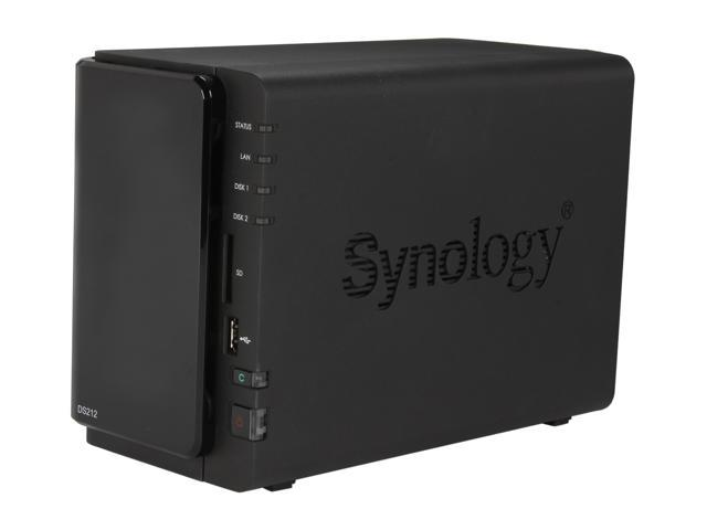 Synology DS212 DiskStation - Feature-rich 2-bay NAS Server for Workgroups and Offices