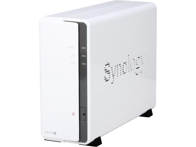 Synology DS115j Diskless System 1-Bay (Diskless) Network Attached Storage