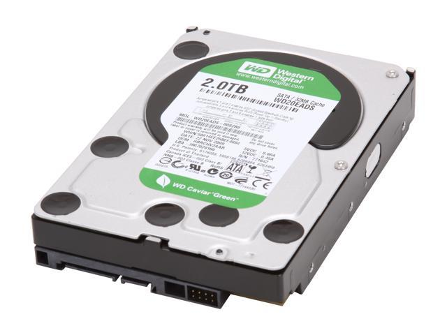 Western Digital WD Green WD20EADS 2TB 32MB Cache SATA 3.0Gb/s 3.5