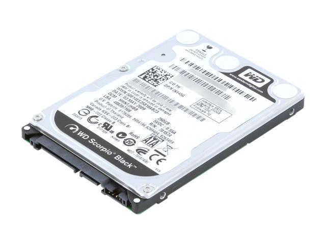 Western Digital Scorpio Black WD2500BJKT 250GB 7200 RPM 16MB Cache SATA 3.0Gb/s 2.5