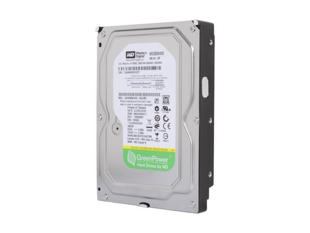 "WD AV-GP WD3200AVVS 320GB IntelliPower 8MB Cache SATA 3.0Gb/s 3.5"" Internal Power-saving Hard Drive Bare Drive"