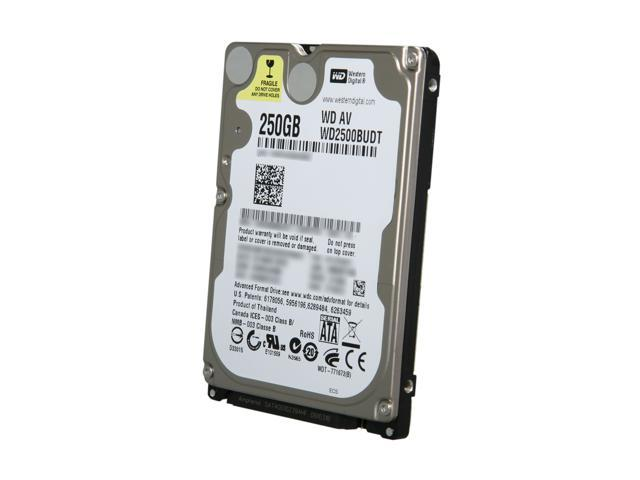 "Western Digital WD AV-25 WD2500BUDT 250GB 5400 RPM 32MB Cache SATA 3.0Gb/s 2.5"" Internal AV Hard Drive"