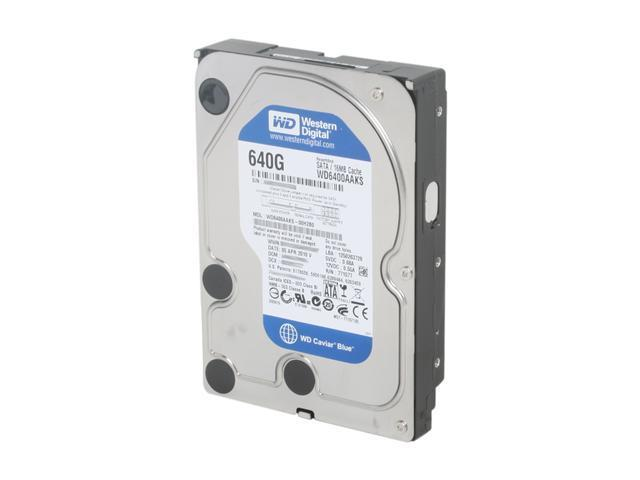 Western Digital Blue RFHWD6400AAKS 640GB 7200 RPM 16MB Cache SATA 3.0Gb/s 3.5
