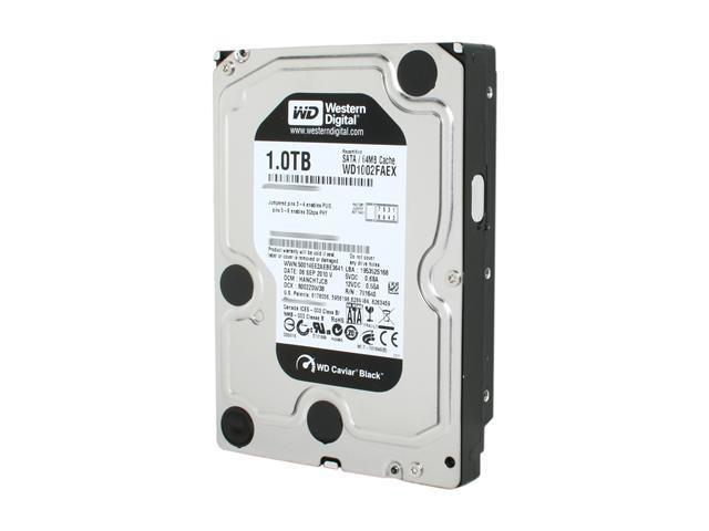 Western Digital Black WD1002FAEX 1TB 7200 RPM 64MB Cache SATA 6.0Gb/s 3.5