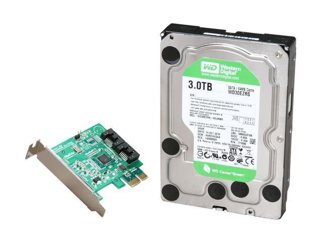 Western Digital WD Green WD30EZRSDTL 3TB 64MB Cache SATA 3.0Gb/s 3.5