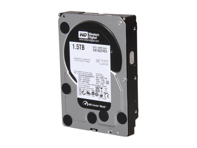 Western Digital Black WD1502FAEX 1.5TB 7200 RPM 64MB Cache SATA 6.0Gb/s 3.5