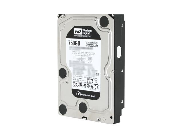 Western Digital Black WD7502AAEX 750GB 7200 RPM 64MB Cache SATA 6.0Gb/s 3.5