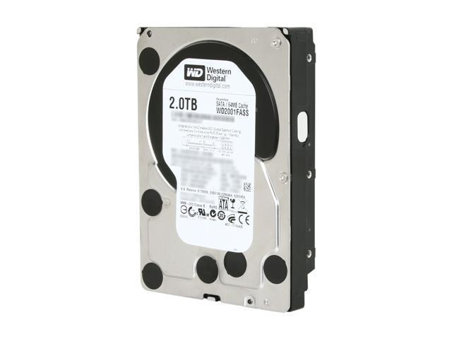 "Western Digital Black WD2001FASS 2TB 7200 RPM 64MB Cache SATA 3.0Gb/s 3.5"" Internal Hard Drive Bare Drive"