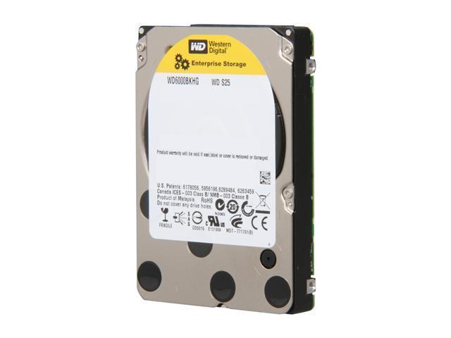 """WD S25 WD6000BKHG 600GB 10000 RPM 32MB Cache SAS 6Gb/s 2.5"""" Internal Enterprise Hard Drive"""