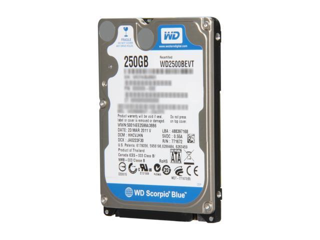 Western Digital Scorpio Blue RFHWD2500BEVT 250GB 5400 RPM 8MB Cache SATA 3.0Gb/s 2.5