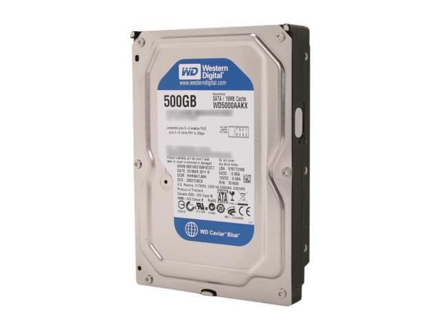 Western Digital Blue RFHWD5000AAKX 500GB 7200 RPM 16MB Cache SATA 6.0Gb/s 3.5