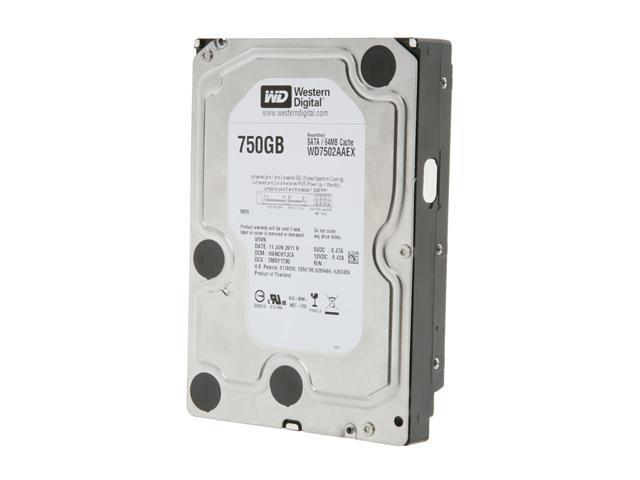 "WD Black WD7502AAEX 750GB 7200 RPM 64MB Cache SATA 6.0Gb/s 3.5"" Internal Hard Drive Bare Drive"