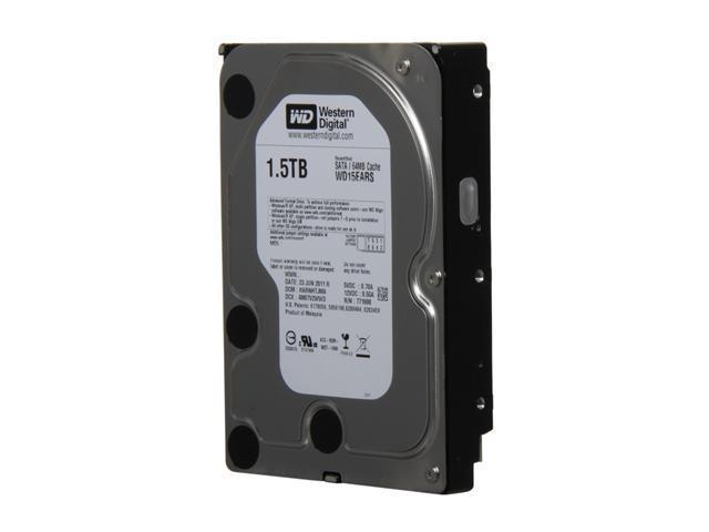 "WD WD Green WD15EARS-FR 1.5TB IntelliPower 64MB Cache SATA 3.0Gb/s 3.5"" Internal Hard Drive"