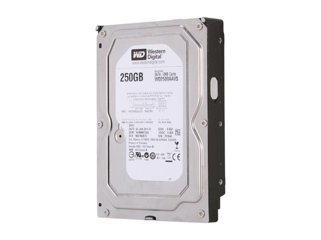"WD WD2500AAVS 250GB 5400 RPM 8MB Cache SATA 3.0Gb/s 3.5"" Internal Hard Drive Bare Drive"