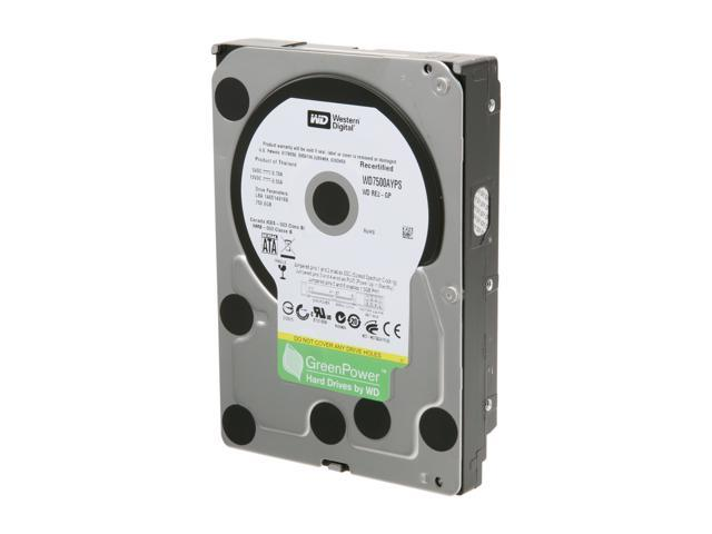 Western Digital RE2-GP WD7500AYPS-FR 750GB IntelliPower 16MB Cache SATA 3.0Gb/s 3.5