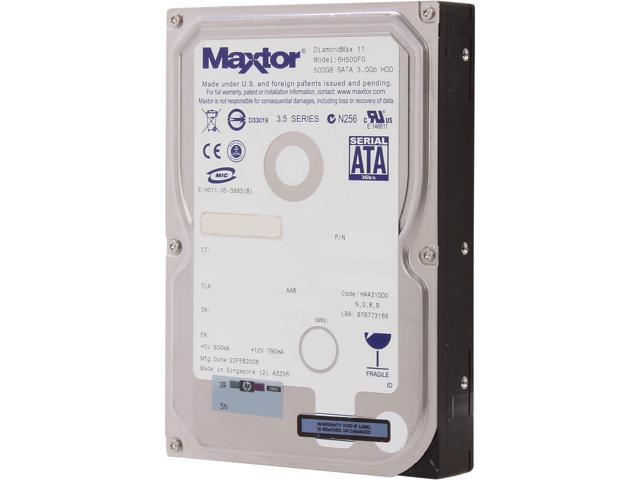 Maxtor MXDX6H500F0/P 500GB 7200 RPM 16MB Cache SATA 3.0Gb/s Internal Hard Drive Bare Drive