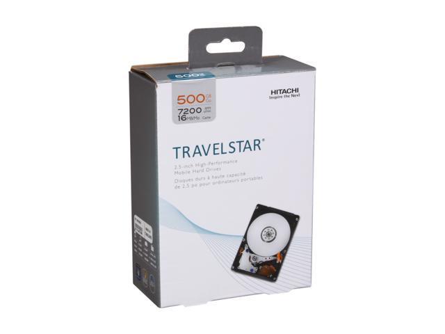 """HGST Travelstar 0S02858 500GB 7200 RPM 16MB Cache SATA 3Gb/s  2.5"""" Internal Notebook Hard Drive Retail Kit"""