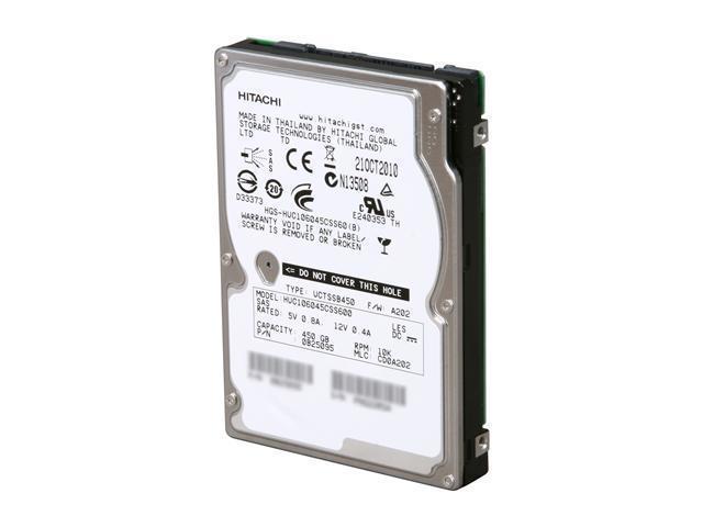 "HGST Ultrastar 0B25095 450GB 10000 RPM 64MB Cache SAS 6Gb/s 2.5"" Enterprise Hard Disk Drive Bare Drive"