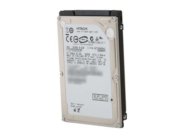 "Hitachi GST Travelstar 5K500.B 0Y30053 320GB 5400 RPM 8MB Cache SATA 2.5"" Internal Notebook Hard Drive"